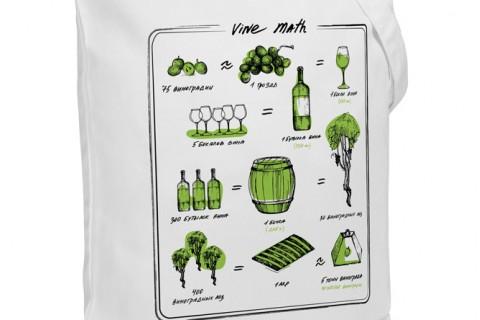 Холщовая сумка Wine Math