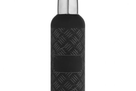 Tермобутылка Hard Work Black, черная
