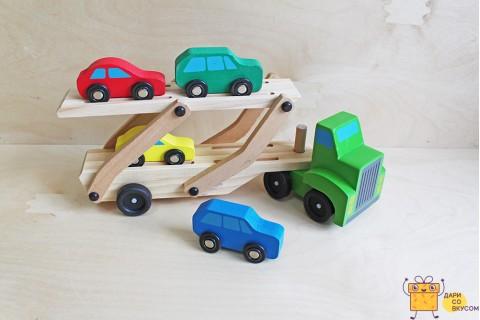 """Деревянная игрушка """"Автовоз"""""""